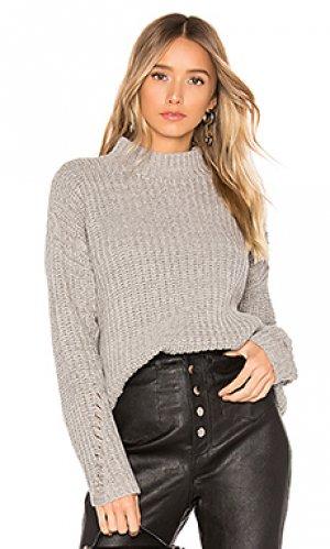 Пуловер clea Lovers + Friends. Цвет: серый