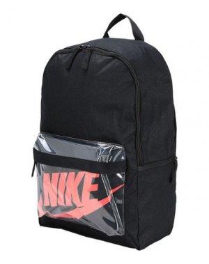 Рюкзаки и сумки на пояс NIKE. Цвет: черный