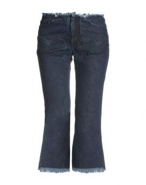 Джинсовые брюки-капри MARQUES' ALMEIDA. Цвет: синий