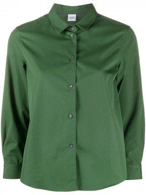 Рубашка с укороченными рукавами Aspesi. Цвет: зеленый