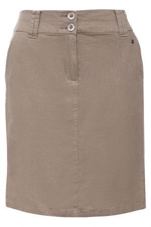 Юбка Finn Flare. Цвет: коричневый