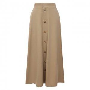 Шерстяная юбка Ralph Lauren. Цвет: бежевый