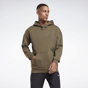 Худи rmowarm+Graphene Cotton Fleece Reebok. Цвет: army green