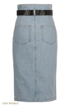 Джинсовая юбка миди с завышенной талией LOVE REPUBLIC