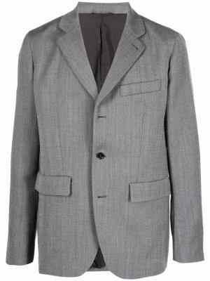 Однобортный пиджак с заостренными лацканами Aspesi. Цвет: серый