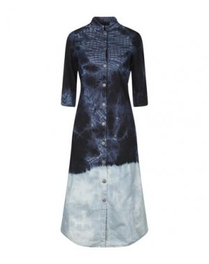 Платье длиной 3/4 BAD SPIRIT. Цвет: синий