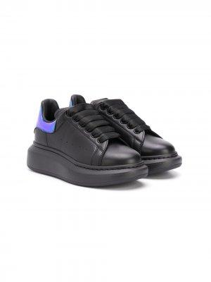Кроссовки на шнуровке Alexander McQueen Kids. Цвет: черный