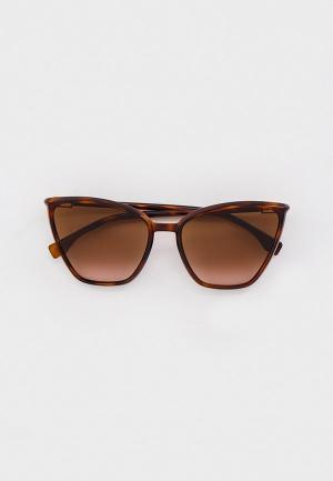 Очки солнцезащитные Fendi FF 0433/G/S 086. Цвет: коричневый