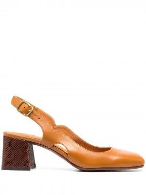 Туфли Freya с квадратным носком Chie Mihara. Цвет: коричневый