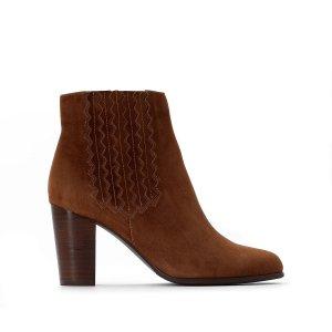 Ботинки-челси La Redoute. Цвет: каштановый