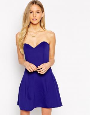 Платье-бандо Ivy Boulee. Цвет: midnight