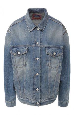 Джинсовая куртка Acne Studios. Цвет: голубой