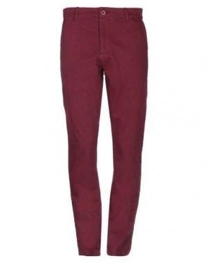 Повседневные брюки DEDICATED.. Цвет: красно-коричневый