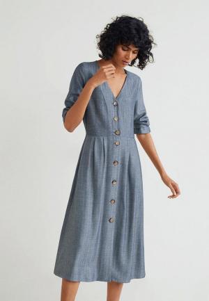 Платье Mango - ESPI. Цвет: серый