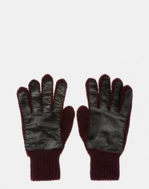 Перчатки JIL SANDER. Цвет: красно-коричневый