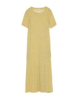 Длинное платье DOUUOD. Цвет: желтый