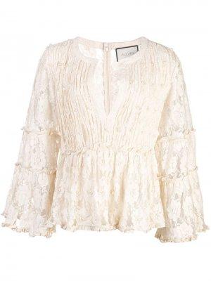 Кружевная блузка с декором Alexis