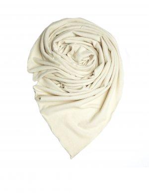 Белый кашемировый плед Leon Emanuel Blanck