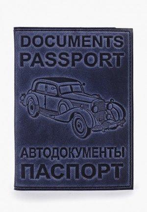 Обложка для документов Forte St.Petersburg. Цвет: синий