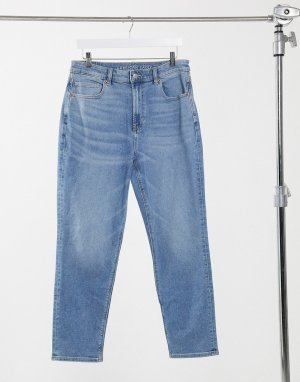 Светлые выбеленные джинсы в винтажном стиле -Голубой American Eagle