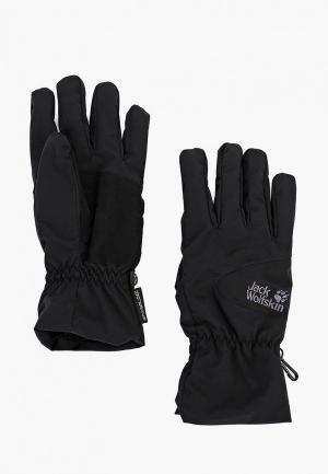 Перчатки Jack Wolfskin STORMLOCK HIGHLOFT GLOVE. Цвет: черный
