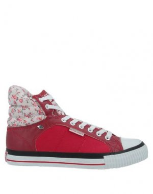 Высокие кеды и кроссовки BRITISH KNIGHTS. Цвет: красный