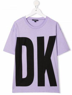 TEEN logo print T-shirt Dkny Kids. Цвет: фиолетовый