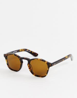Круглые солнцезащитные очки с черепаховой оправой Spitfire. Цвет: коричневый