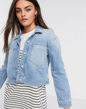 Короткая джинсовая куртка -Голубой French Connection