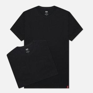 Комплект мужских футболок Levis 2 Pack Slim Crewneck Levi's. Цвет: чёрный