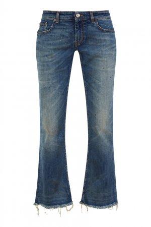 Укороченные расклешенные джинсы Balenciaga. Цвет: синий
