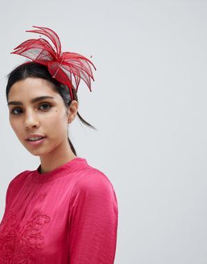 Вуалетка -Красный Elegance