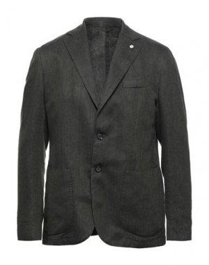 Пиджак BRANDO. Цвет: темно-зеленый