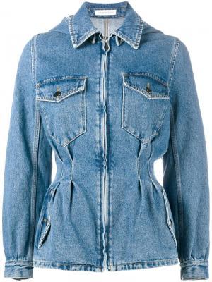 Джинсовая куртка J.W.Anderson. Цвет: синий