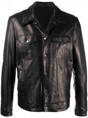 Classic leather jacket Salvatore Santoro. Цвет: черный