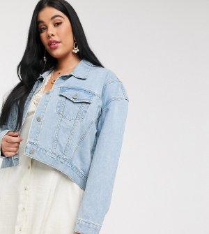 Джинсовая куртка oversized -Синий Skylar Rose Plus