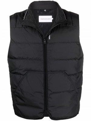 Дутый жилет с логотипом Calvin Klein Jeans. Цвет: черный