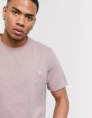 Сиреневая футболка с вышитым логотипом h-Фиолетовый цвет Hi-Tec