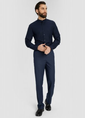 Рубашка с длинными рукавами O`Stin. Цвет: черно-синий