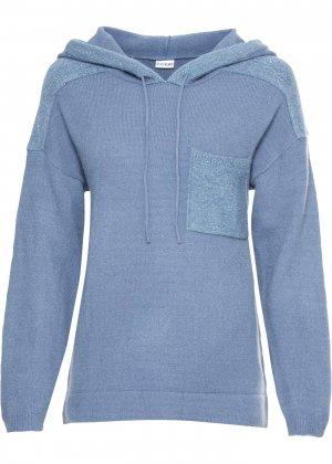Пуловер с пайетками bonprix. Цвет: лиловый