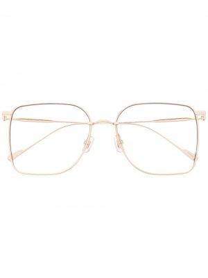 Солнцезащитные очки Reme 032 в массивной оправе Gentle Monster. Цвет: золотистый