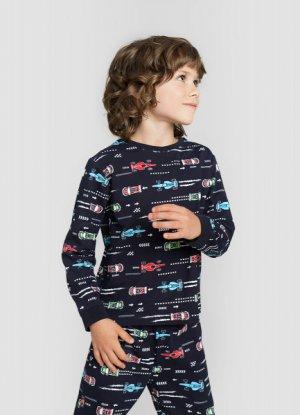 Пижама для мальчиков O`Stin. Цвет: темно-синий