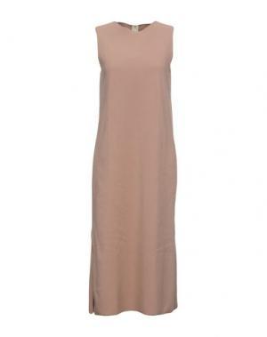 Платье длиной 3/4 ALISA. Цвет: пастельно-розовый