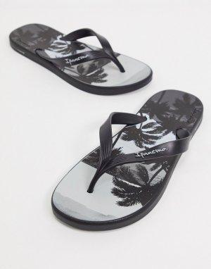 Черные шлепанцы -Черный Ipanema