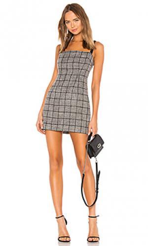 Облегающее мини-платье bynes NBD. Цвет: серый