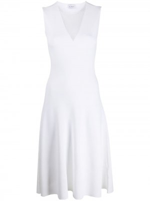 Платье с сетчатой вставкой Salvatore Ferragamo. Цвет: белый
