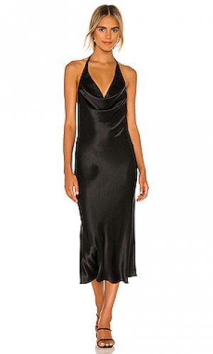 Платье миди emmaline Amanda Uprichard. Цвет: черный