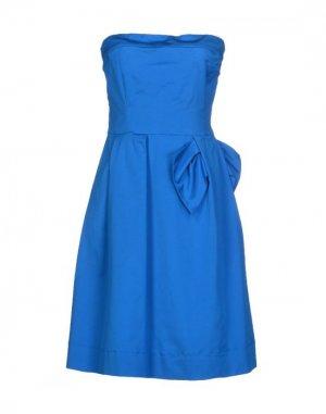 Короткое платье BURANI COLLEZIONI. Цвет: лазурный
