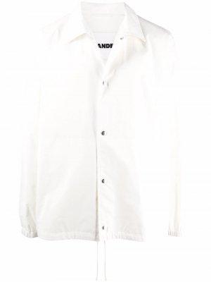 Куртка-рубашка с логотипом Jil Sander. Цвет: белый