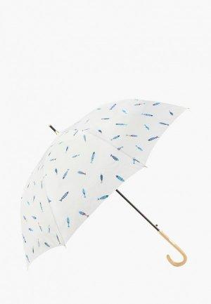 Зонт-трость Kawaii Factory. Цвет: белый